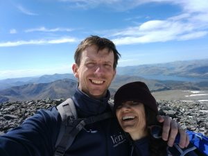 Bob and Karen on Ben Nevis